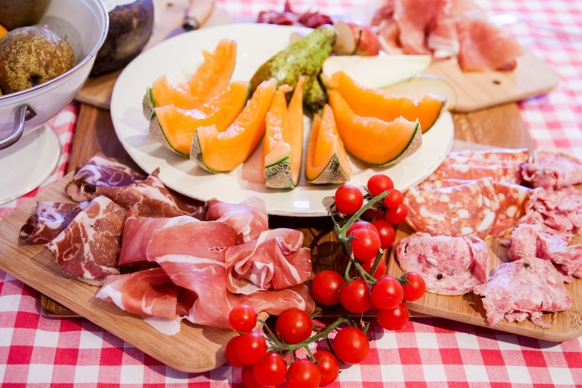 prosciutto, salame and fruit